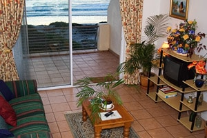 Interior view of apartment. The beach is literally on your doorstep.